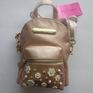 Betsey Johnson Mini Backpack Pearl Rose Gold
